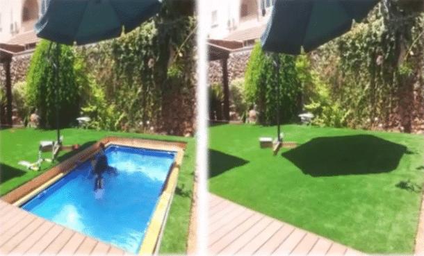 Il voulait une piscine et elle plus d 39 espace dans le for Piscine lau balagnas