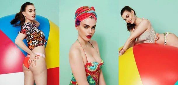campagne de pub pour des maillots de bain Desigual