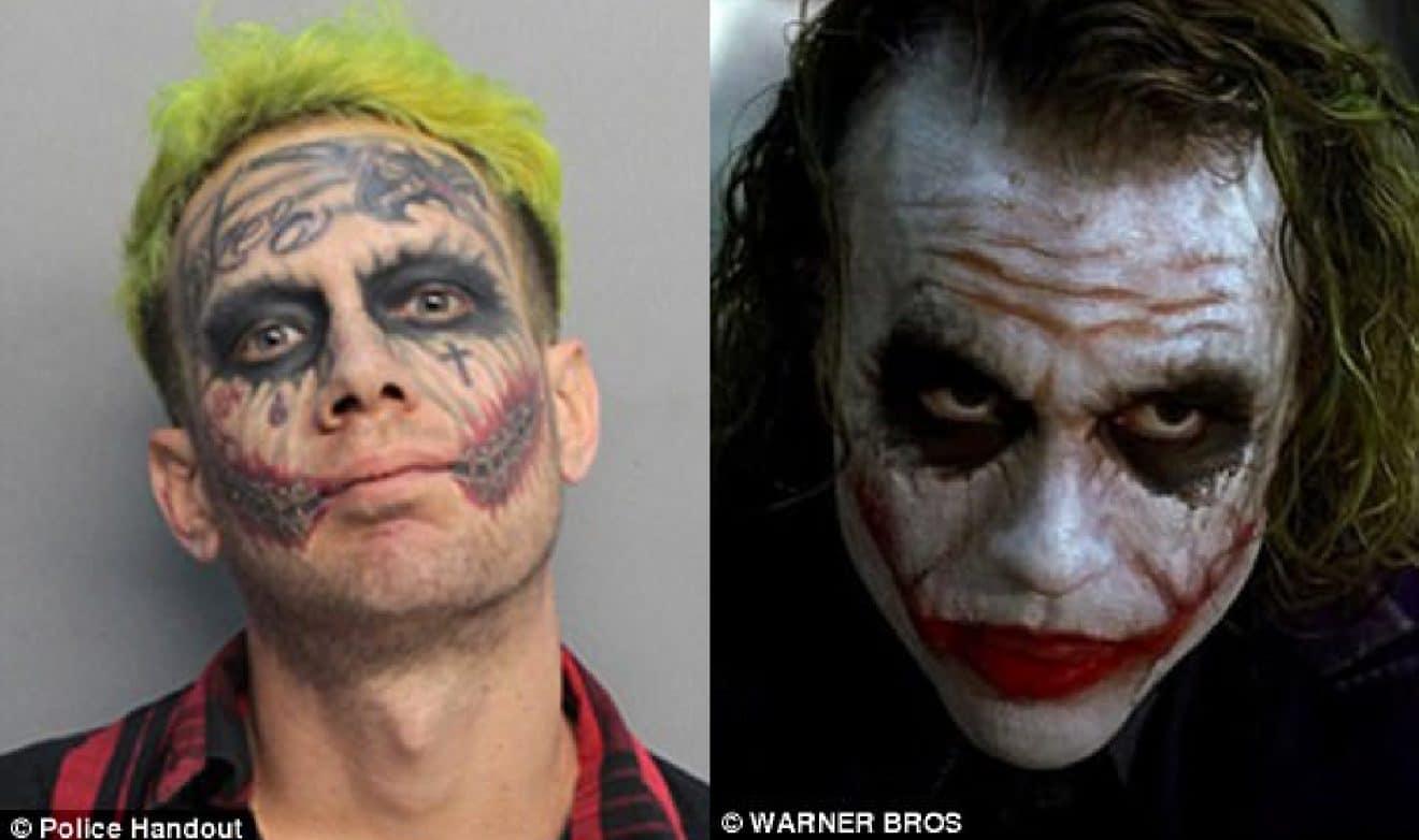 Il S Est Fait Tatouer Le Visage Du Joker Et Est Arrete Parce Qu Il