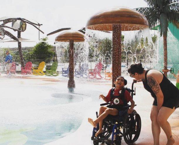 Morgan's Inspiration Island parc aquatique pour handicapes