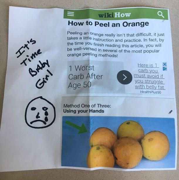 peler des oranges