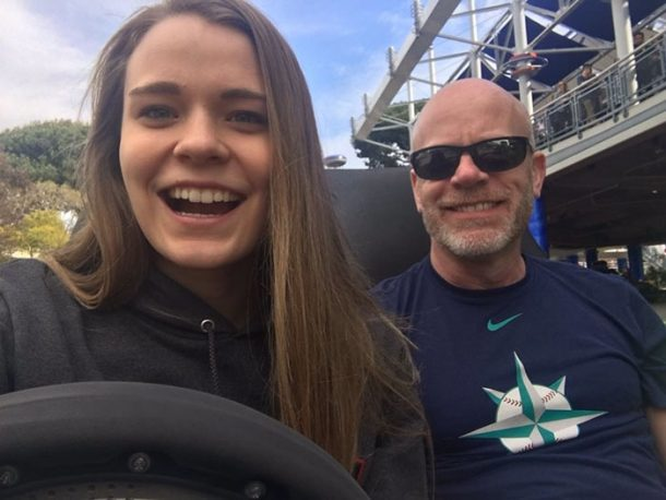 Meg Sullivan avec son papa