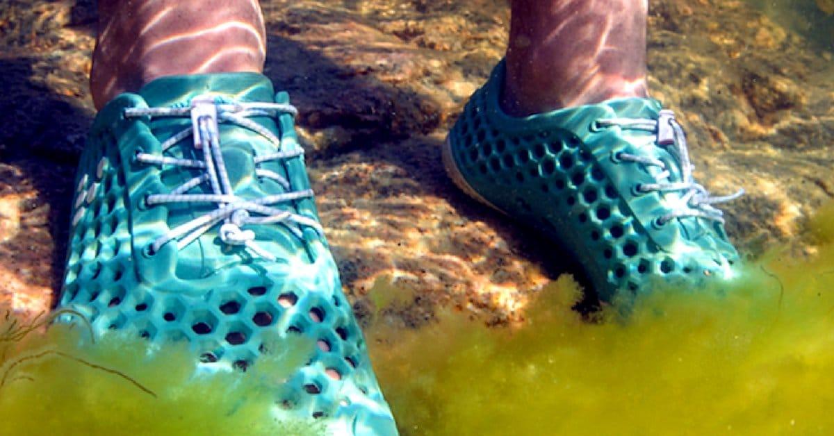 ces chaussures base d 39 algues permettent d assainir les eaux et vitent le rejet de co2. Black Bedroom Furniture Sets. Home Design Ideas