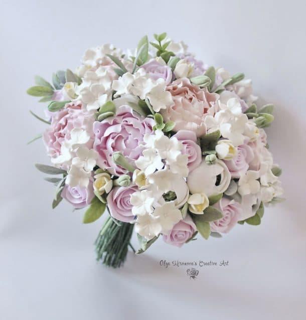 bouquet de mariage en argile