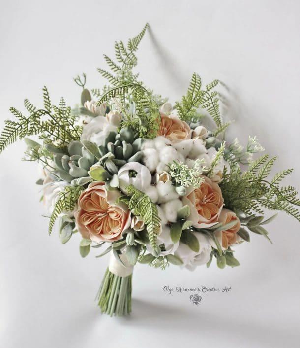 bouquet en argile