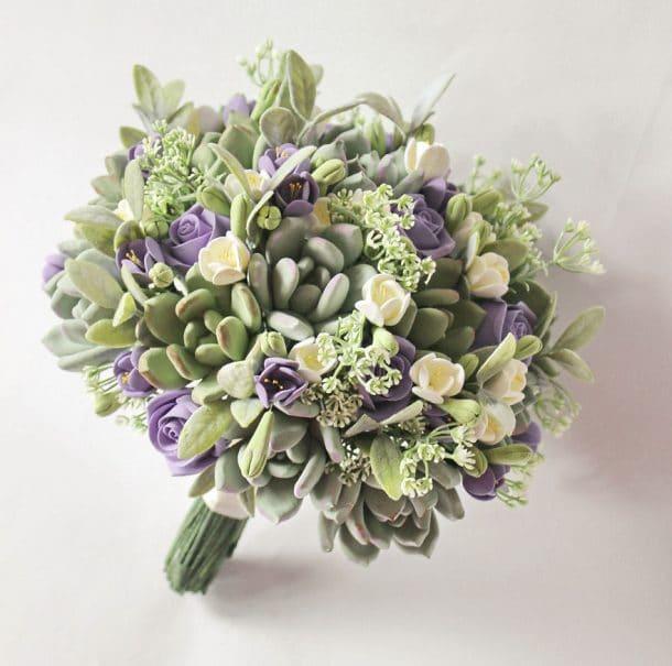bouquet artificiel mariage argile