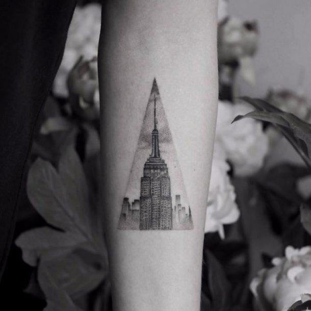 tatouage gratte ciel