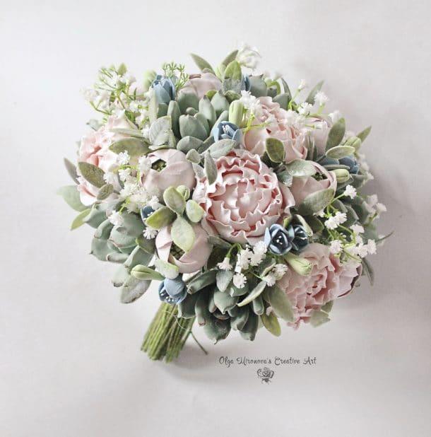 bouquet artificiel mariage