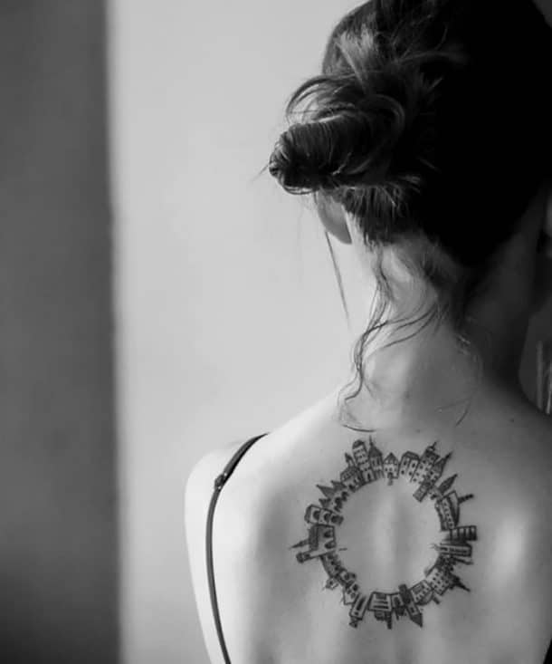 tatouage petites maisons