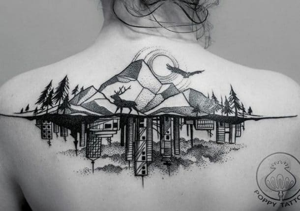 tatouage nature et ville