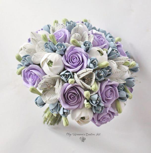 bouquet mariee argile