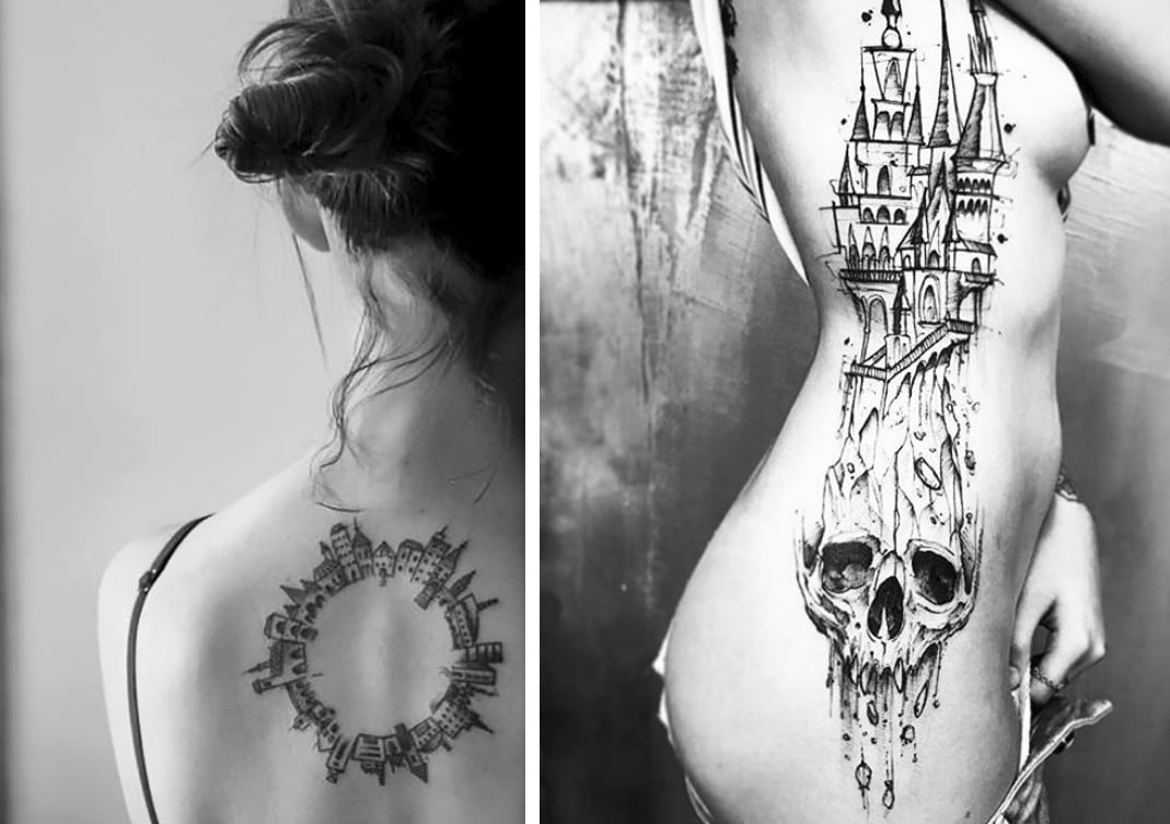 tatouages architectures