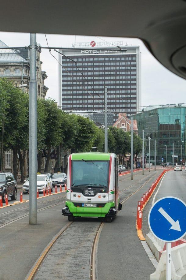 une ligne de bus sans chauffeur a t inaugur e sans incident majeur en estonie. Black Bedroom Furniture Sets. Home Design Ideas