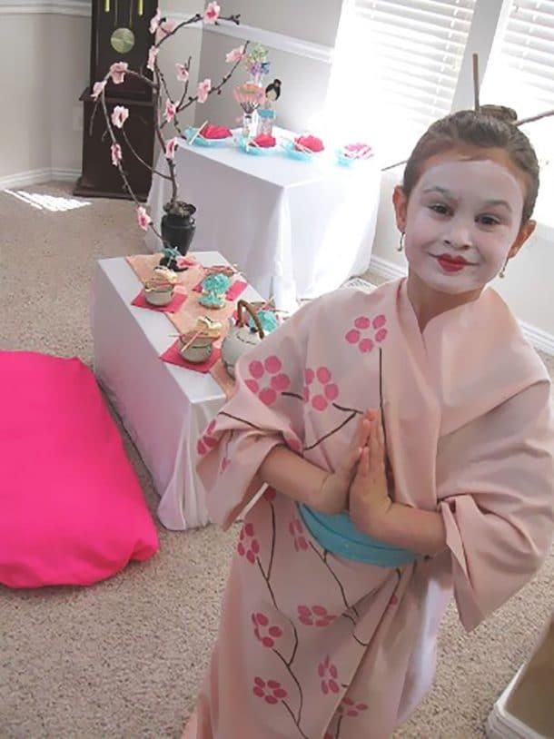 fete d'anniversaire sur le theme du japon