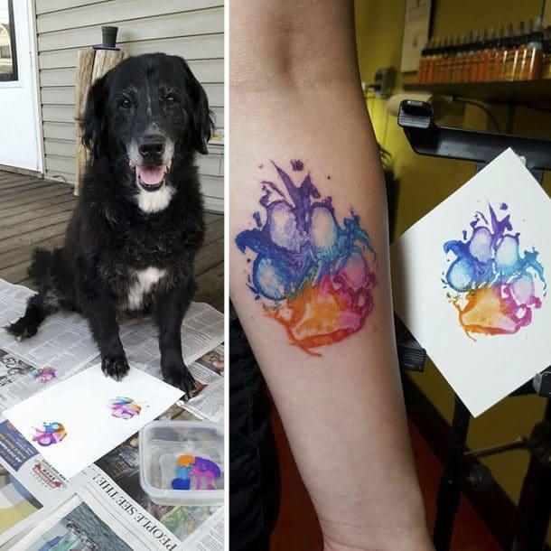 Flambant neuf Des tatouages inspirés des coussinets et des pattes de vos chiens  IG97