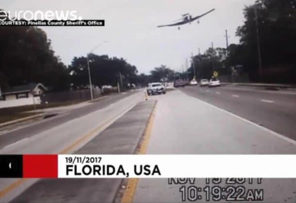 atterrissage urgence petit avion floride tampa