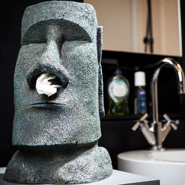 distributeur mouchoirs moai