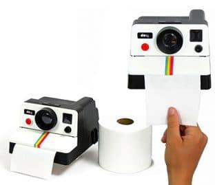 distributeur papier toilettes polaroid