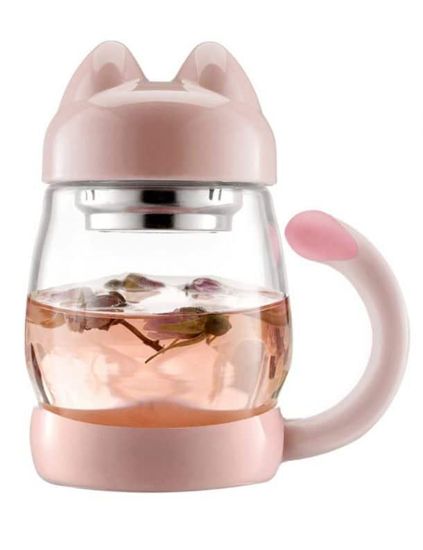 mug infuseur chat