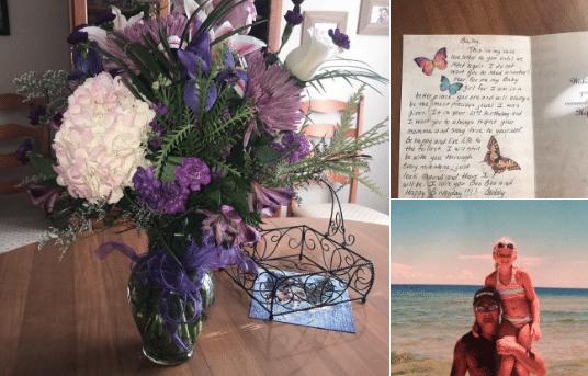 Pour ses 21 ans, elle reçoit des fleurs de son papa décédé 5 ans plus tôt et lui rend un hommage émouvant  (vidéo)