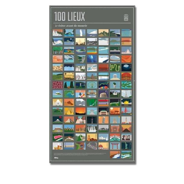 poster 100 lieux a visiter