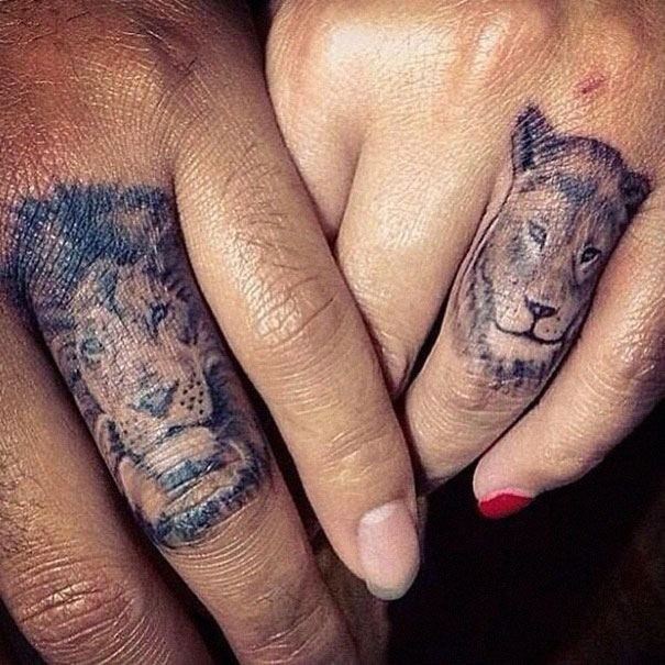 80 tatouages minimalistes faire en couple l 39 amour dans la peau - Tatouage a faire en couple ...