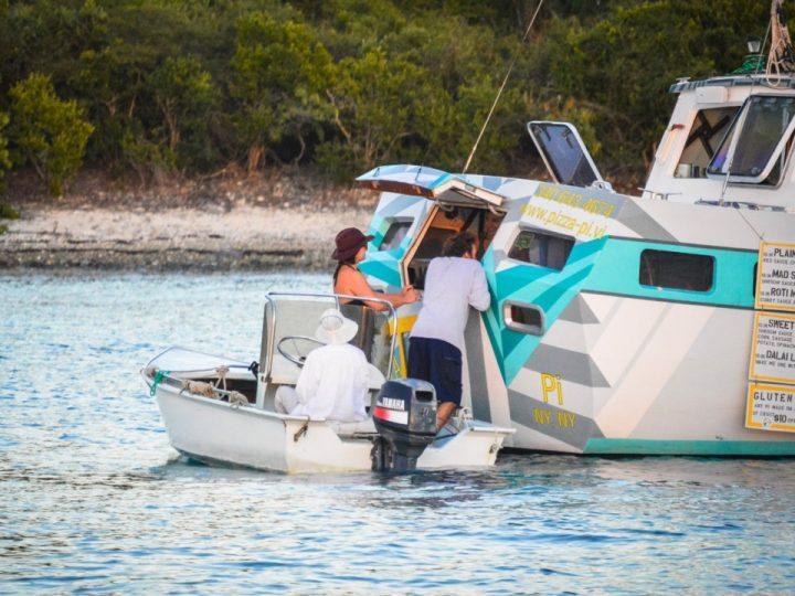 bateau pizza îles Vierges des états-unis