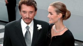 Johnny Hallyday et son épouse Laeticia