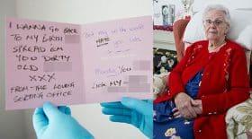 Une arrière-grand-mère reçoit une lettre d'insulte