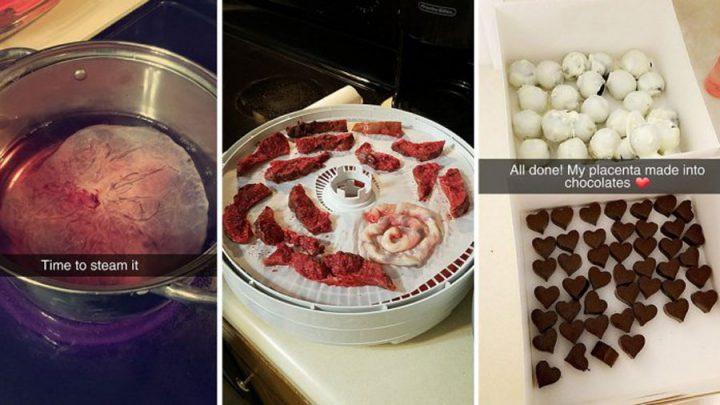 recette de chocolats au placenta