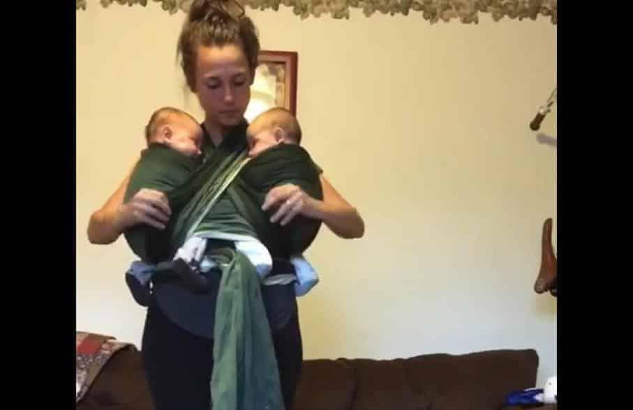 Echarpe de portage jumeaux