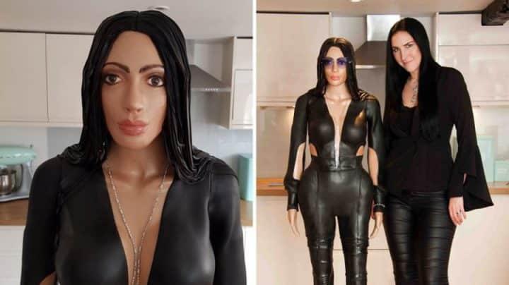 gâteau à l'effigie de Kim Kardashian