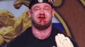 haltérophile russe saigne du nez