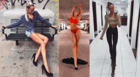mannequin suédois aux jambes très longues