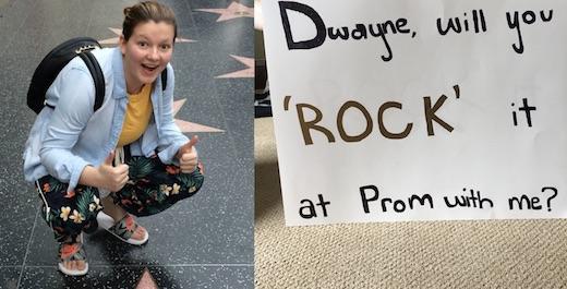 une lycéenne invite Dwayne johnson à son bal de promo, la réponse de l'acteur est touchante