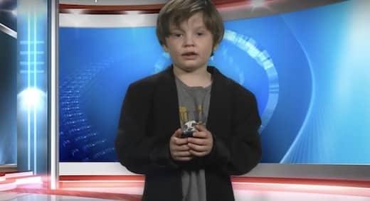 cet enfant présente un bulletin météo à la télé et c'est hilarant