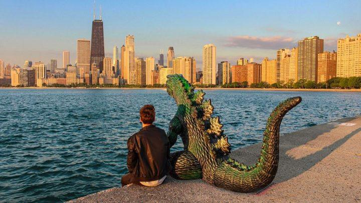Godzilla ajouté sur Photoshop