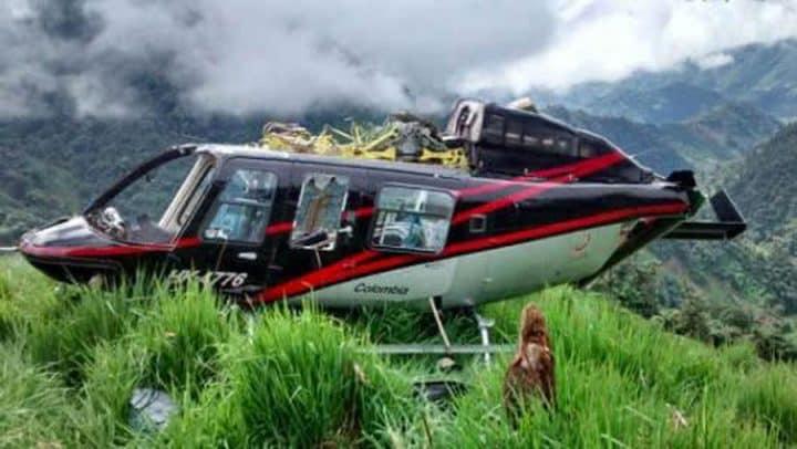 survivant sauvé par hélicoptère coupé hélice