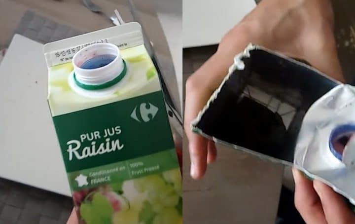 ce qu'ils découvrent dans cette bouteille de jus de raisin va les faire vomir !