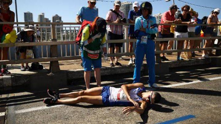 assistance médicale chute au marathon des jeux du commonwealth