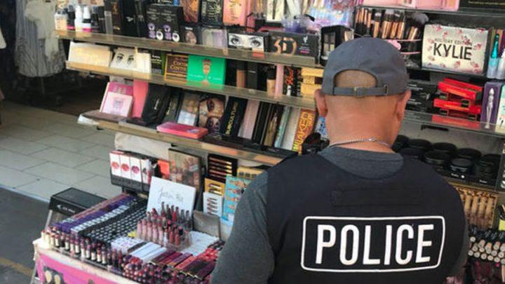 police excréments humains produits cosmétiques contrefaçon
