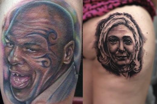Il se sont fait tatouer le visage de leur idole