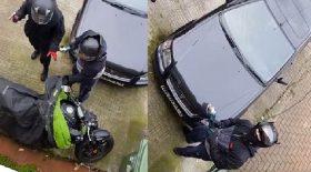 voleurs utilisent une disqueuse pour voler une moto