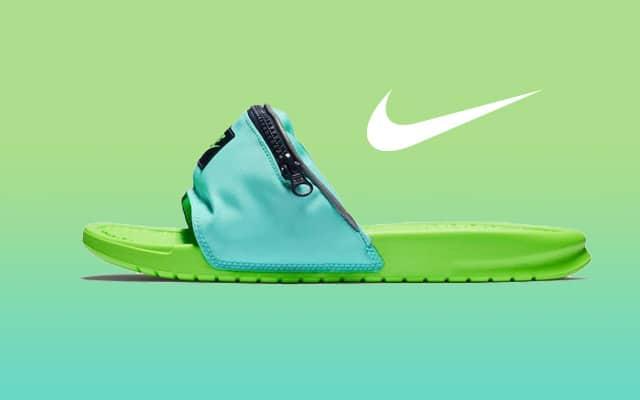 vente moins chère haute qualité plus tard Après les claquettes-chaussettes, Nike vous propose les claquettes-banane