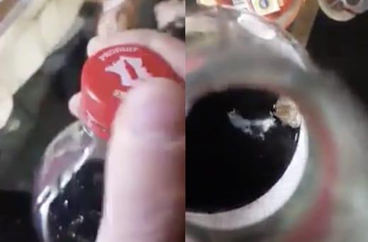 il découvre une araignée dans sa bouteille de Coca-Cola