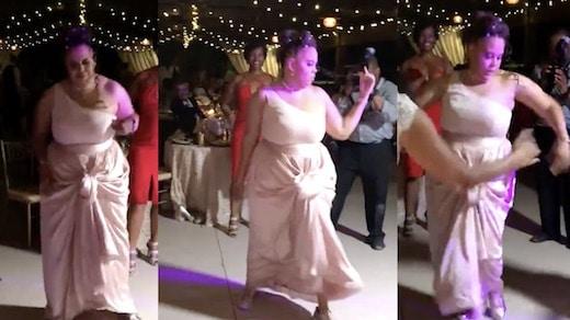 Cette jeune femme originaire de Baltimore danse incroyablement bien pendant un mariage