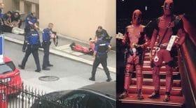 costume deadpool terroristes police