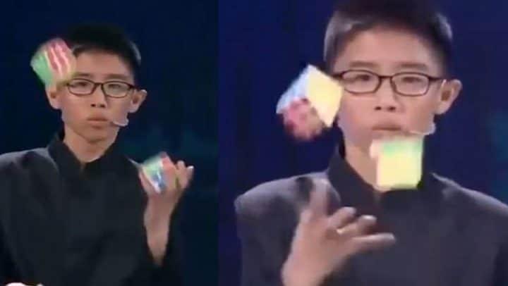 rubik's cube résoudre jongler record