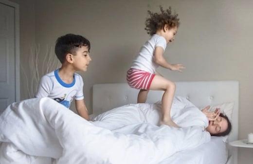 Giedre Gomes nous montre en photos le quotidien. difficile de mère de famille