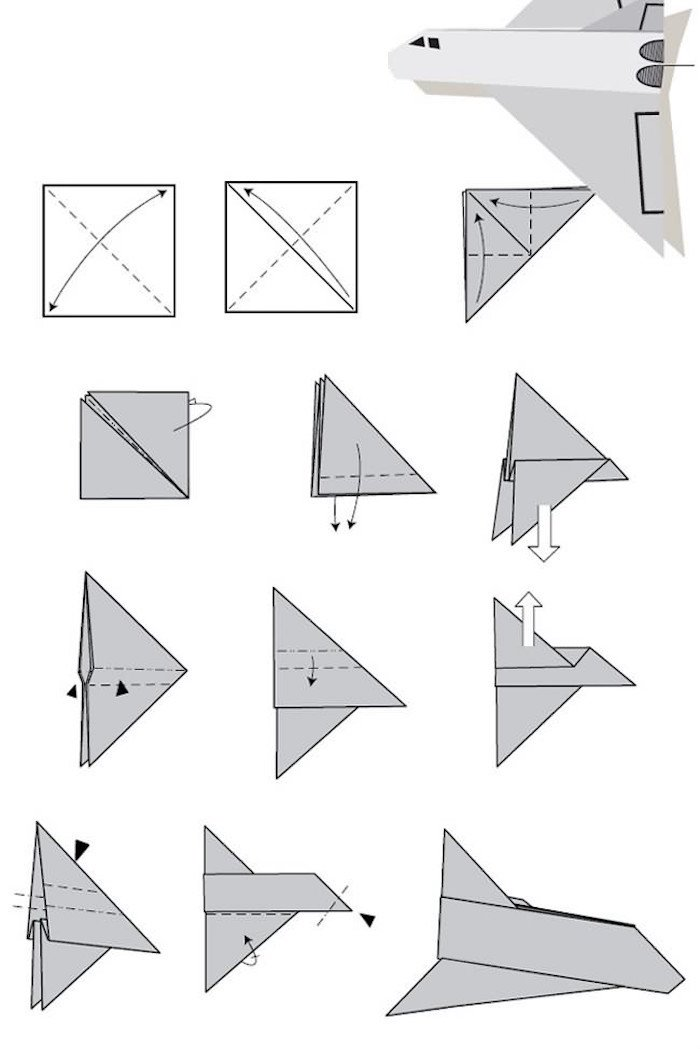 12 Tutos De Pliages Pour Réaliser Des Avions En Papier Qui Volent